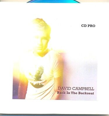 DAVID CAMPBELL RARE Back in the Backseat RARE PROMO Only CD Single