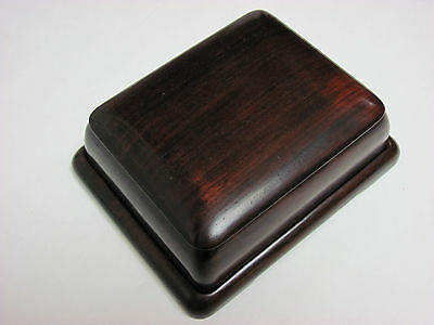 Antique 19th Century Chinese Zitan Rosewood Carved Covered Box and Tray