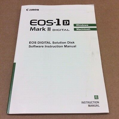 Used Canon EOS 1D Mark II Software Instruction Manual English