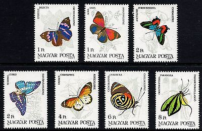 Hungary 1984 Butterflies 7 Values Complete Set Unmounted Mint FREEPOST