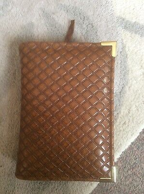 Genuine Diamond embossed  leather  bible cover for pocket NWT (nwtpkt-E)