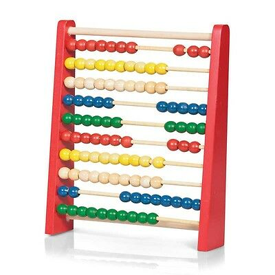 27cm Wooden Beads Children`s Abacus Maths Counting Educational Toy
