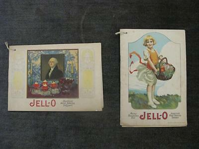 2 Vintage Jell-o Recipe Booklets 1920 & 1926 14 & 17 pages  Le Roy, NY