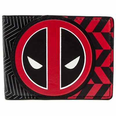 New Official Cool Animated Deadpool Red & Black Bi-Fold Wallet