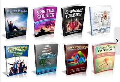 100 Personal and Spiritual Development PDF eBooks Master Resell Rights Free ship