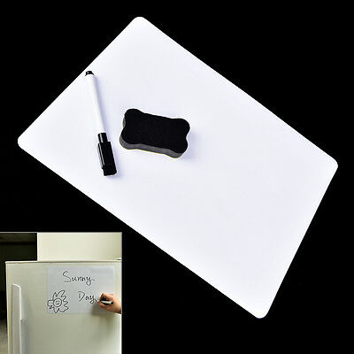 30x21cm Magnetic Fridge WritingBoard Removable Whiteboard Message Board/Memo Pad