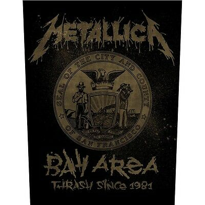 Metallica Bay Area Back Patch XLG free worldwide shipping