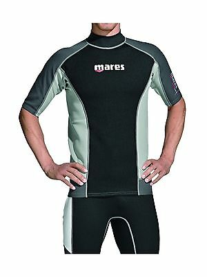 Mares 482062-S Short Sleeve Trilastic Rash Guard Black Grey Small