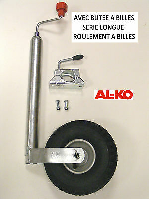 Roue jockey gonflable ALKO avec collier