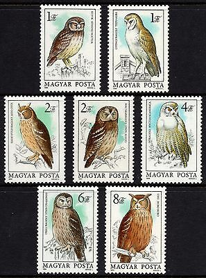 Hungary 1984 Owls /  Birds - Complete Set Unmounted Mint FREEPOST