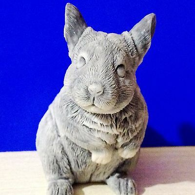 Chinchillas figurine marble chips realistic Souvenirs from Russia handmade pet