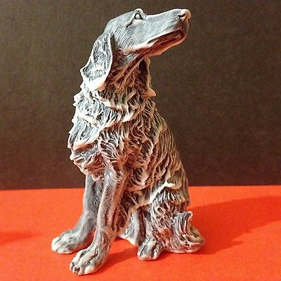 English Setter figurine dog marble chips from Russia