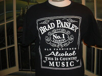 BRAD PAISLEY #1 COUNTRY(Alcohol)COLLECTIBLE CONCERT T-SHIRT.LG.>NICE>LQQK>
