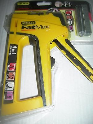 Stanley genuine fatmax 4 in  1 stapler cable staples nails & pinless ones