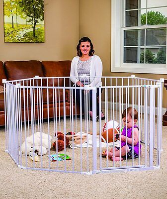 Regalo 1350-DS 192-Inch Super Wide Gate and Play Yard, White BOX DAMAGE