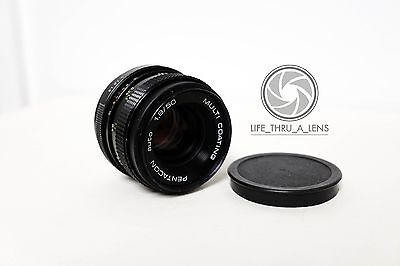 Pentacon Auto 50mm f/1.8 MC Lens for M42 fit with caps DEFECTS