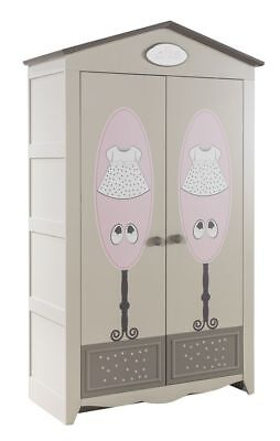 kinderkleiderschrank baby kleiderschrank braun rosa. Black Bedroom Furniture Sets. Home Design Ideas