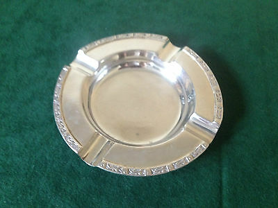 HEAVY STERLING SILVER ASH TRAY BIRMINGHAM 1952.   98 Grams