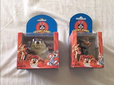 Rare 1998 Boxed DAFFY DUCK & TAZ  Looney Tunes Cast Resin Figure Warner Brothers