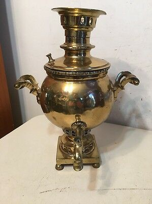 Antique Brass Samovar Parts Project  Russian Or Turkish