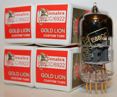 Matched Quads Genalex Gold Lion ECC88/6922 tubes, Brand New