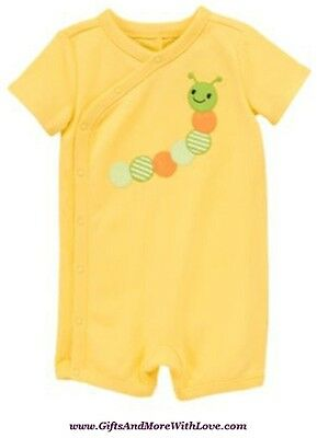Gymboree NWT Yellow BRAND NEW BABY CATERPILLAR DRESS ROMPER OUTFIT 0 3 6 Months