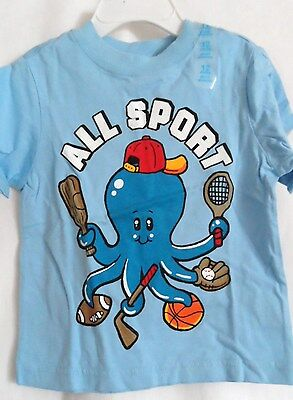 Boys 12 Month Blue Octopus All Sport Shirt Nwt ~ The Children's Place