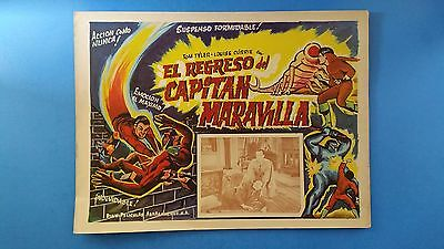 Rare Vintage Original  ADVENTURES OF CAPTAIN MARVEL(1941) Mexican Lobby Card***