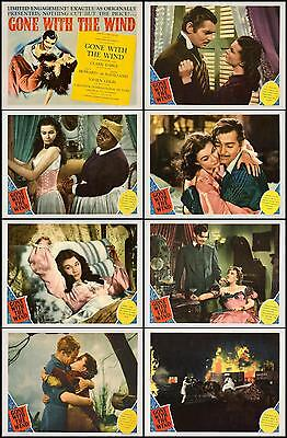 GONE WITH THE WIND Complete Set Of 8 Individual 8x10 LC Prints R-1940 WOW
