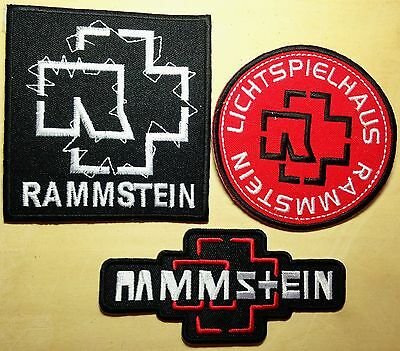 3 Lot Rammstein Lichtspielhaus Engel Ahoi Cd Music Rock Pop Punk Shirt on Patch