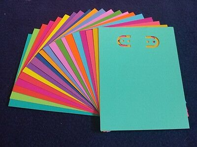 NEW Handmade Earring jewelry display card, 3x4, 41 pcs, asst text bright colors