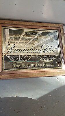 Vintage 60s Canadian Club Whiskey  Advertising Bar Mirror,,THE BEST IN THE HOUSE