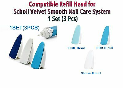 Compatible Scholl Velvet Smooth Sublime Ongles Kit de remplacement 3 Recharges