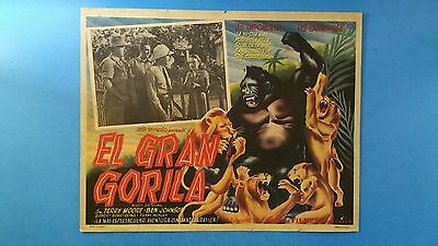 Rare Vintage Original MIGHTY JOE YOUNG(1949) Mexican Lobby Card