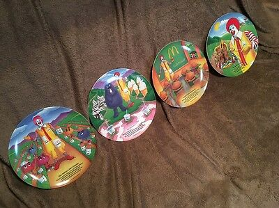 McDonald's Vintage  Collectible 1989 Plates Complete Set of 4. Lot 3