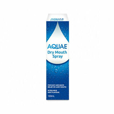 Hamilton Aquae Dry Mouth Spray 100Ml Ultra Mild Mint Flavour Relieve & Refresh