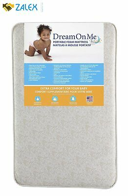 "Dream On Me 3"" Foam Graco Pack 'n Play Mattress with Bacterial Waterproof Cover"