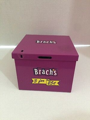 Brach's Candy Coin Bank Box Collectors Purple Metal HTF