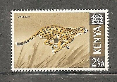 Album Treasures Kenya  Scott # 32  2.50sh  Cheetah MLH