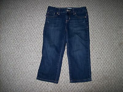 OLD NAVY Girl's Size 8 w/adjustable Waistband Denim Capri Pants