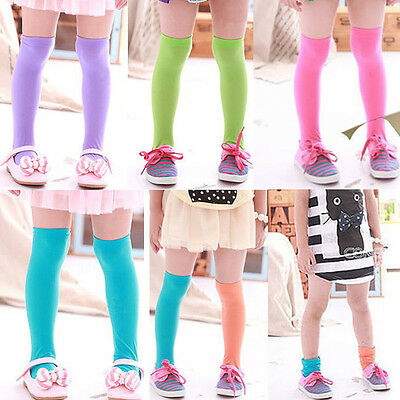 Cute Baby Kid Toddler Girls Knee High Socks Tights Leg Warmer Stockings For 4-6Y
