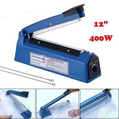 "12"" Hand Heat Sealer Impulse Manual Seal Plastic Bag Closer Kit Machine 300mm"