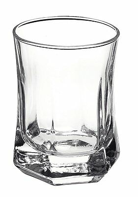 6 Set Shot Glasses Office Home Bar Drinking Whiskey Crystal Clear Solo Cup Shots