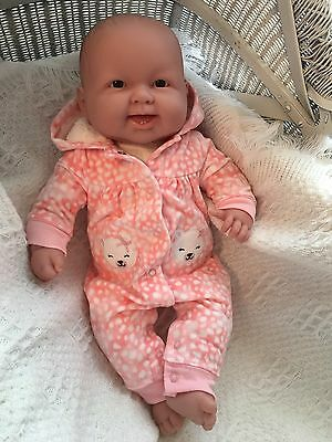 "21"" Berenguer baby doll Brown Eyes 2 bottom teeth 4 reborn or play"