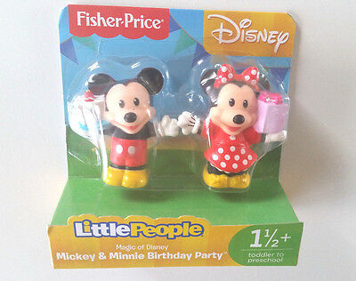 New Fisher-Price Little People Magic of Disney Mickey & Minnie Birthday Party