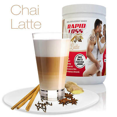 Rapid Loss Chai Latte Flavour 450G Meal Replacement Shakes Weight Loss