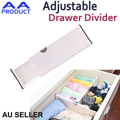 Plastic Retractable Adjustable Drawer Divider Storage Partition Board Organizer