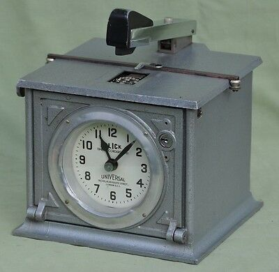 Vintage Blick Industrial Clocking-in Time Clock Recorder Stamp Machine London