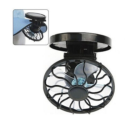 Mini Clip-on Solar Fan Portable Outdoor Sun Powered Panel Black Cooling Cell Fan