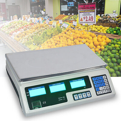 40kg Digital Fruits Weighing Computing Price Scale Electronic Stainless Steel
